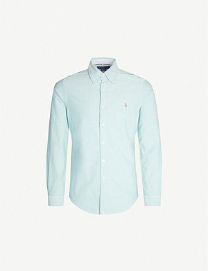 POLO RALPH LAUREN Logo-embroiderd slim-fit cotton Oxford shirt