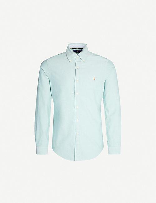 46286b6c8 POLO RALPH LAUREN Logo-embroiderd slim-fit cotton Oxford shirt