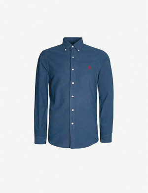 POLO RALPH LAUREN Slim-fit logo-embroidered cotton shirt