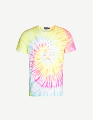 POLO RALPH LAUREN Tie-dye cotton T-shirt