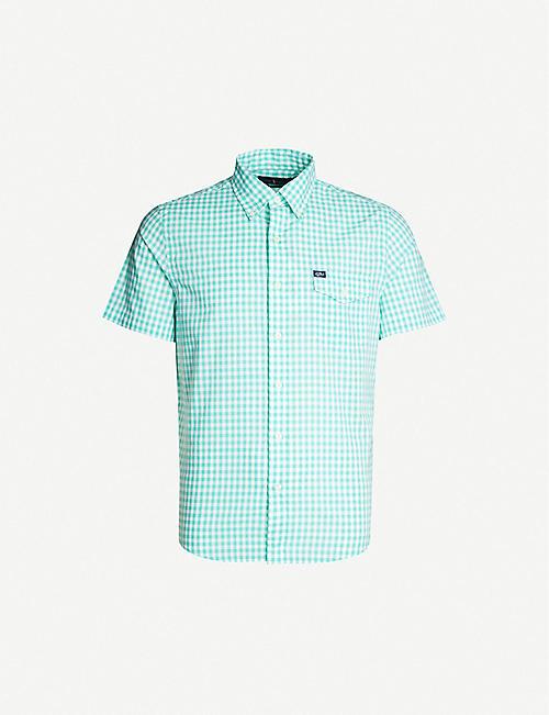 04256c33c3ca POLO RALPH LAUREN Gingham custom-fit short-sleeved cotton shirt