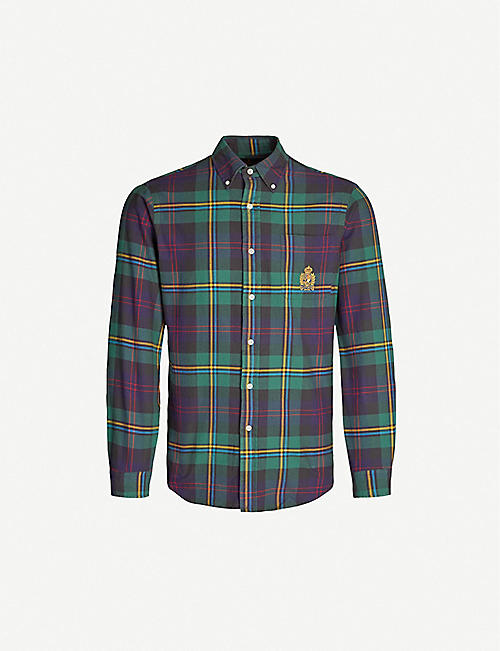 32e6e84a POLO RALPH LAUREN Checked custom-fit cotton-flannel shirt