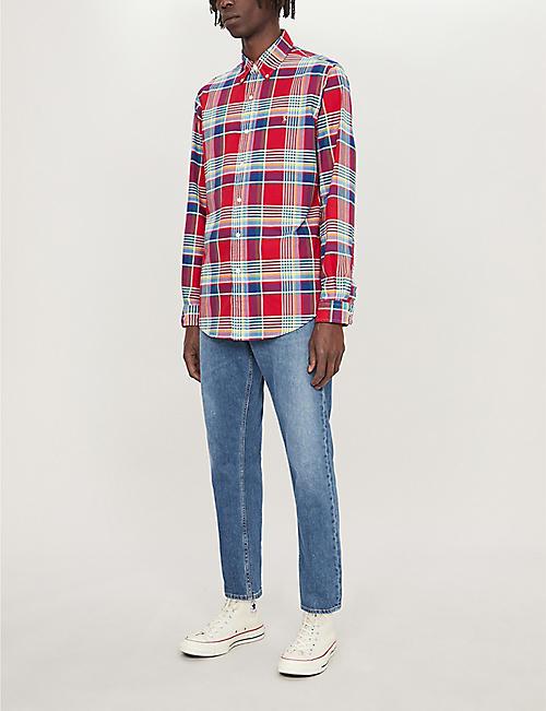 4382e4389 POLO RALPH LAUREN Checked custom-fit cotton shirt