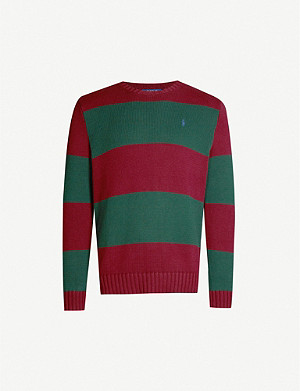 POLO RALPH LAUREN Striped cotton-knit jumper