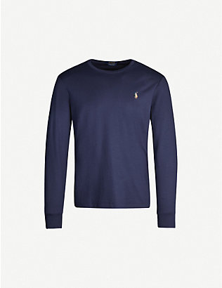 POLO RALPH LAUREN: Crewneck cotton-jersey top