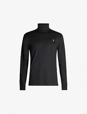 POLO RALPH LAUREN Turtleneck cotton-jersey top