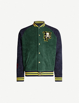 POLO RALPH LAUREN Patch-embroidered regular-fit fleece jacket