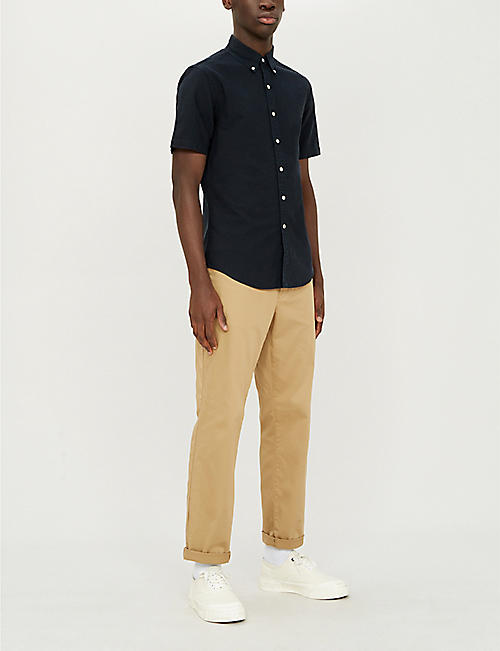 57fa97cf51f POLO RALPH LAUREN Slim-fit button-down cotton shirt