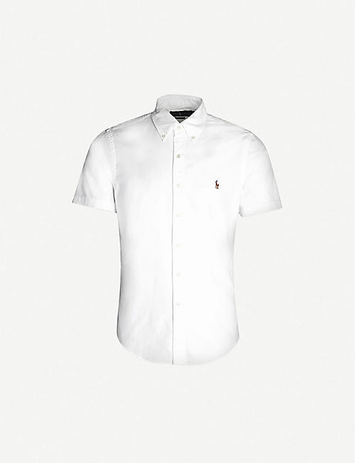 dc8c242b8 POLO RALPH LAUREN Logo-embroidered slim-fit cotton-twill shirt