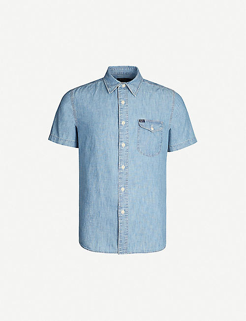 POLO RALPH LAUREN Graphic-print short-sleeved denim shirt