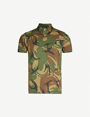 POLO RALPH LAUREN Camouflage-print cotton-piqué polo shirt