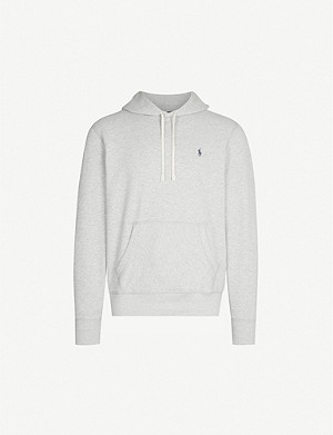 POLO RALPH LAUREN Logo-embroidered cotton-jersey hoody