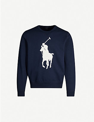 POLO RALPH LAUREN: Logo-embroidered jersey jumper