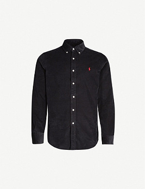 POLO RALPH LAUREN Logo-embroidered custom-fit cotton-corduroy shirt