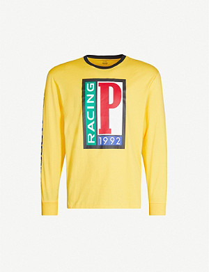 POLO RALPH LAUREN 1992 printed cotton-jersey top