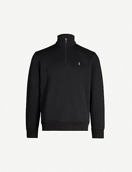 POLO RALPH LAUREN Zip-up cotton-blend sweatshirt