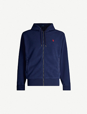 POLO RALPH LAUREN Logo-embroidered fleece hoody