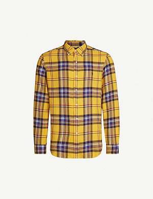 POLO RALPH LAUREN Checked cotton-knit shirt