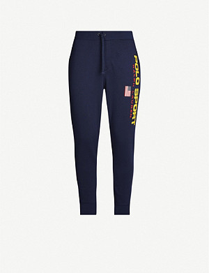 POLO RALPH LAUREN Logo-print jersey jogging bottoms