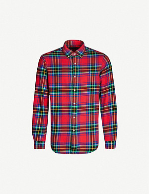 POLO RALPH LAUREN Checked custom-fit cotton shirt