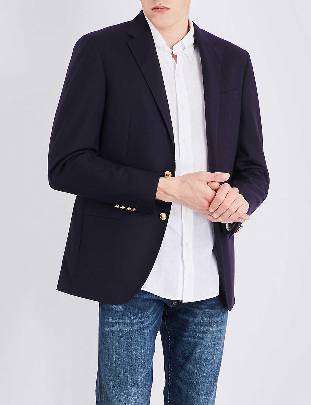 bf0901fdbbbd POLO RALPH LAUREN - Notch-lapel doeskin wool jacket | Selfridges.com