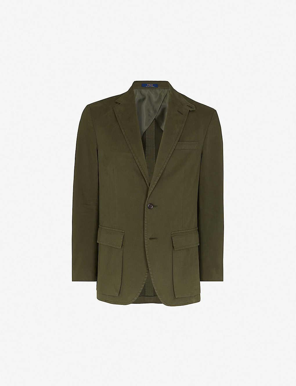 7504a1e4 POLO RALPH LAUREN - Single-breasted cotton blend jacket | Selfridges.com