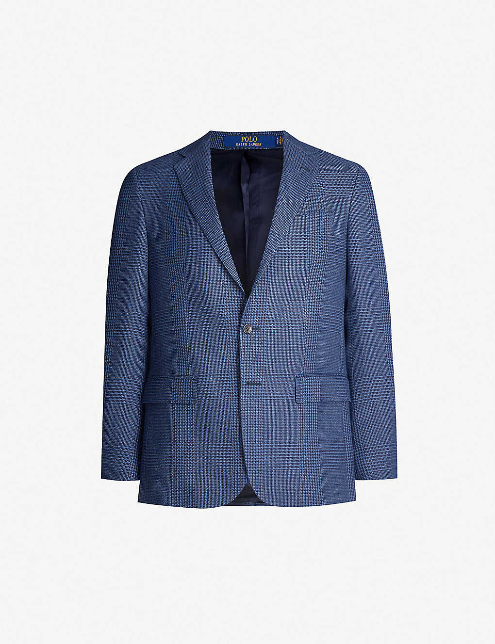cbf9ba96 Single-breasted regular-fit linen and cotton-blend blazer - Navy and black  ...