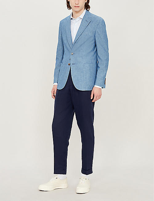 POLO RALPH LAUREN Morgan-fit cotton-chambray blazer