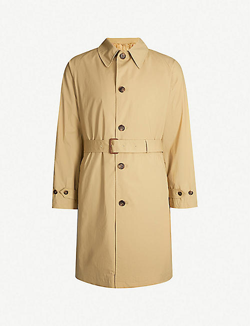 POLO RALPH LAUREN Balmacaan stretch-cotton coat