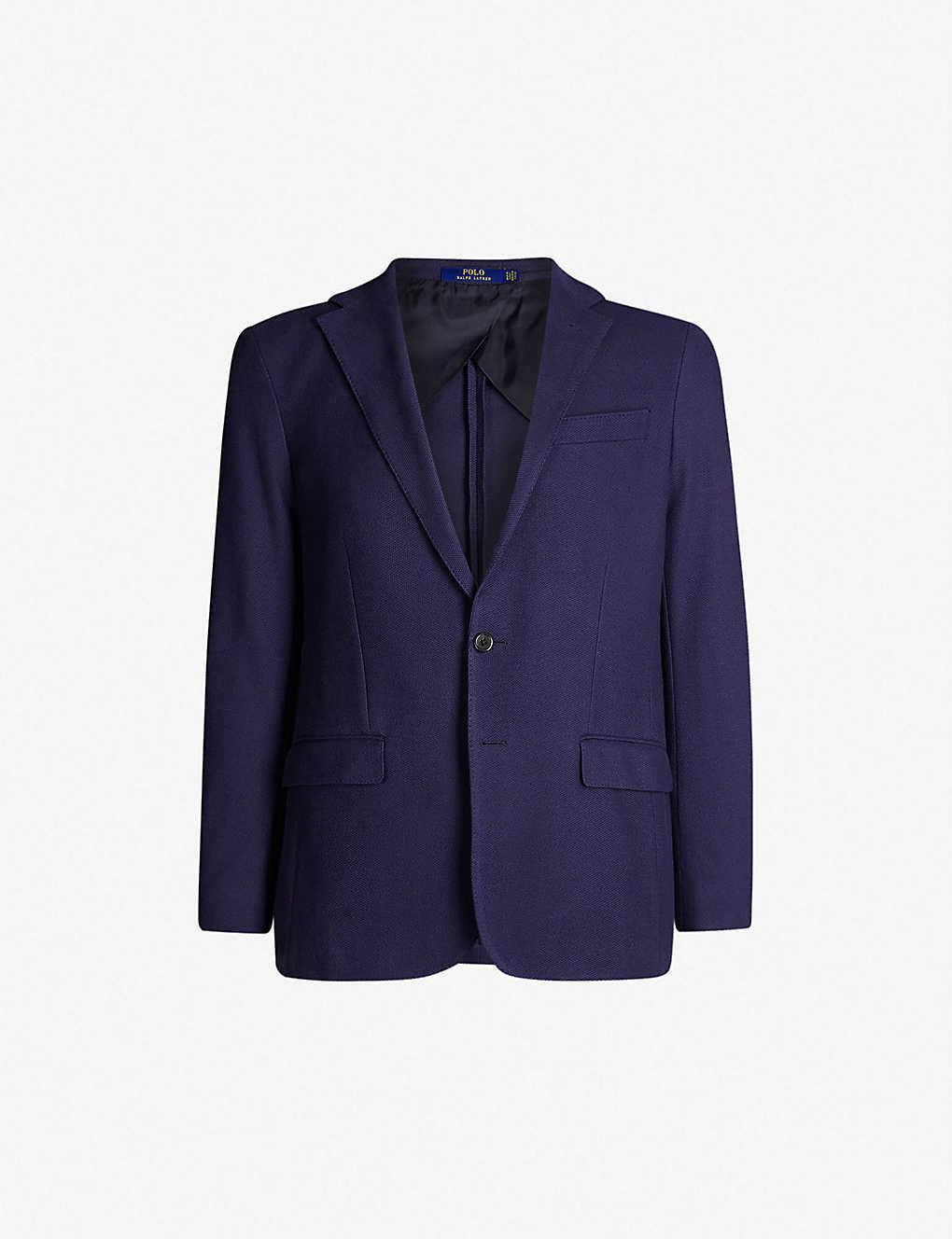 269290e3 POLO RALPH LAUREN - Single-breasted regular-fit cotton blazer ...