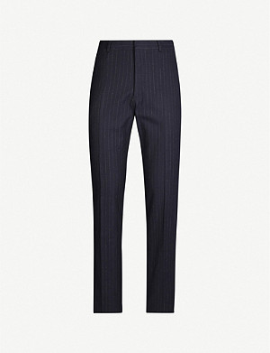 POLO RALPH LAUREN Pinstripe stretch-cotton-blend trousers