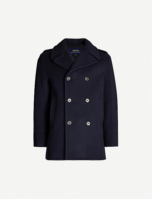 POLO RALPH LAUREN Wool-blend pea coat