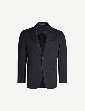 POLO RALPH LAUREN Single-breasted stretch-cotton coat
