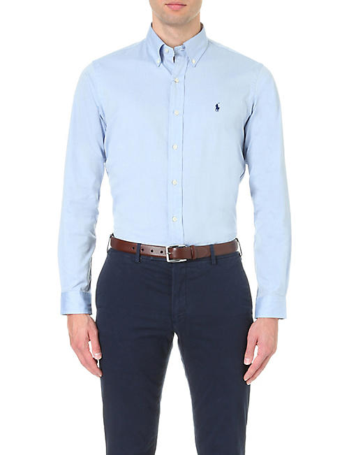POLO RALPH LAUREN Oxford custom-fit single cuff shirt