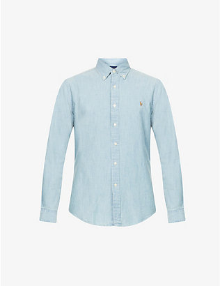 POLO RALPH LAUREN: Slim-fit single-cuff denim shirt