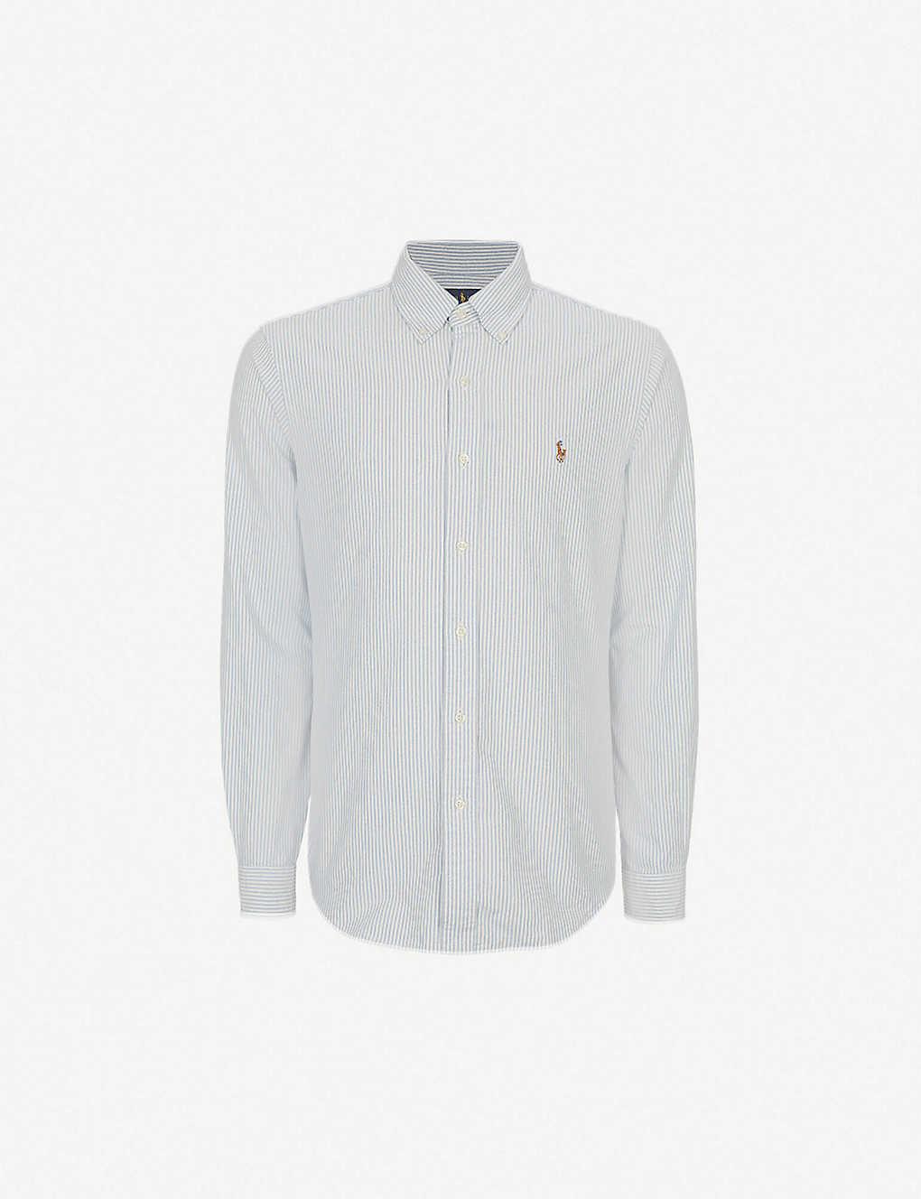 e5c2fa12 Striped Oxford fit single cuff shirt - Bsr bluewhite stripe ...