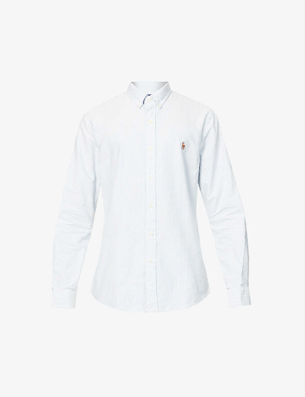 POLO RALPH LAUREN: Striped Oxford fit single cuff shirt