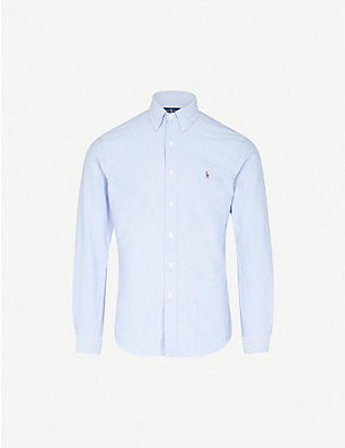 POLO RALPH LAUREN: Embroidered logo slim fit single cuff shirt