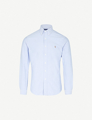 POLO RALPH LAUREN Embroidered logo slim fit single cuff shirt