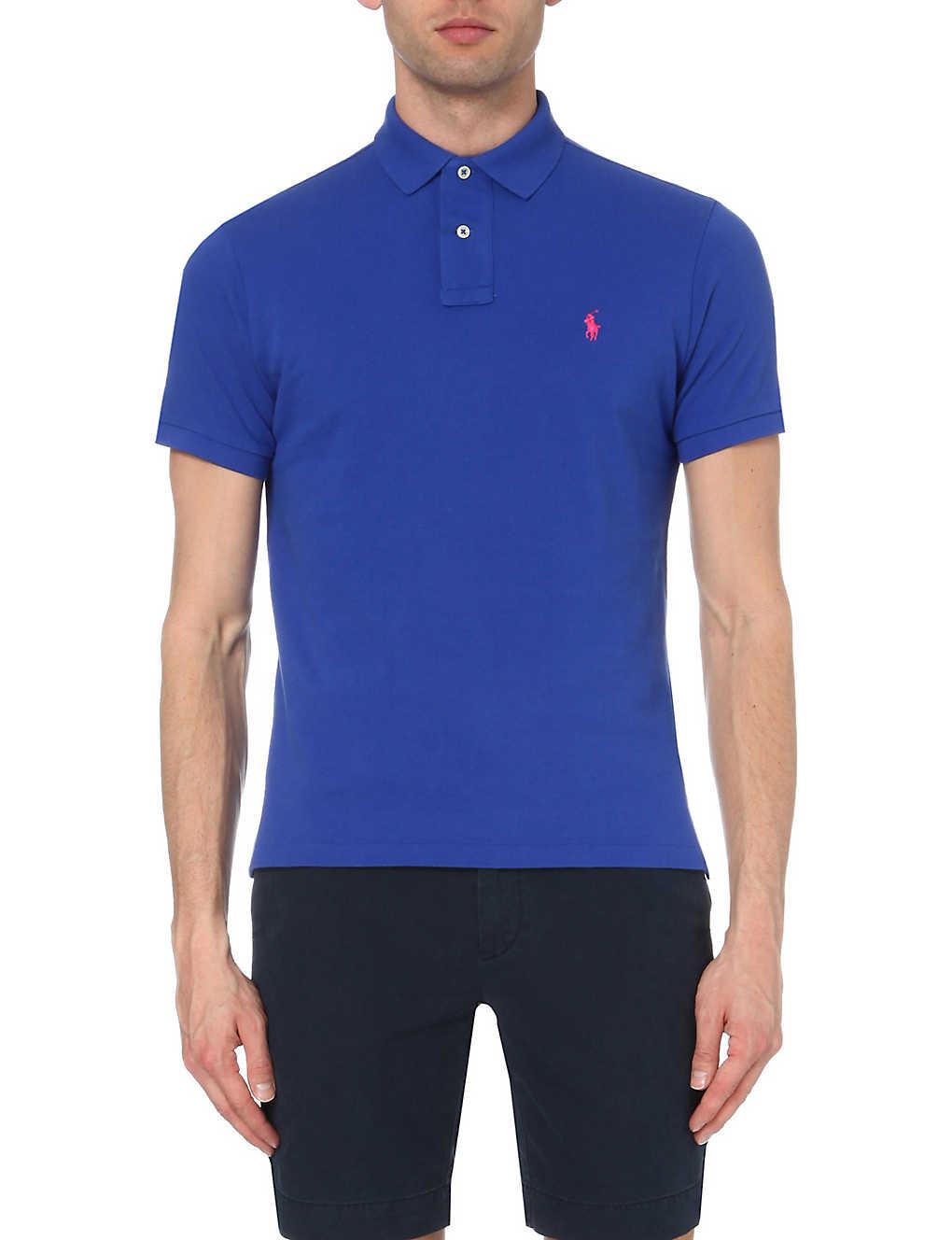 a0538a50 POLO RALPH LAUREN - Custom-fit cotton-mesh polo shirt   Selfridges.com