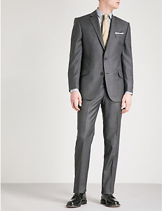 RICHARD JAMES: Sharkskin-weave slim-fit wool blazer
