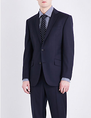 RICHARD JAMES: Single-breasted slim-fit wool blazer