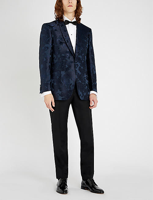 RICHARD JAMES Tiger silk-jacquard tuxedo jacket