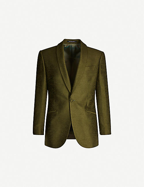 RICHARD JAMES Shawl-lapel regular-fit silk-dupioni tuxedo jacket