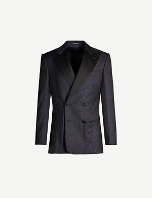 RICHARD JAMES Regular-fit wool tuxedo jacket