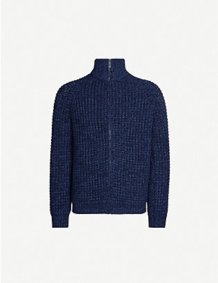 RICHARD JAMES: Waffle knit wool-and-cotton blend jumper
