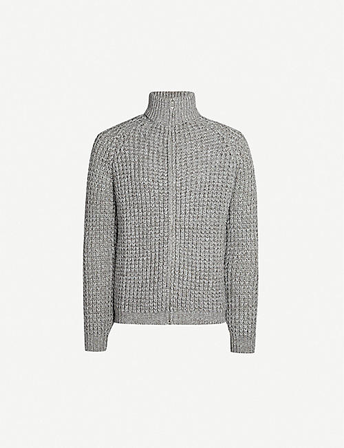 RICHARD JAMES Waffle knit wool-and-cotton blend jumper