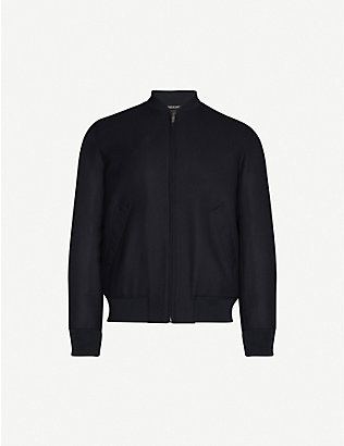 RICHARD JAMES: Zip-up cotton-corduroy bomber jacket
