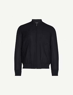 RICHARD JAMES Zip-up cotton-corduroy bomber jacket