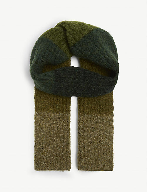 RICHARD JAMES Punk stripe wool-blend scarf